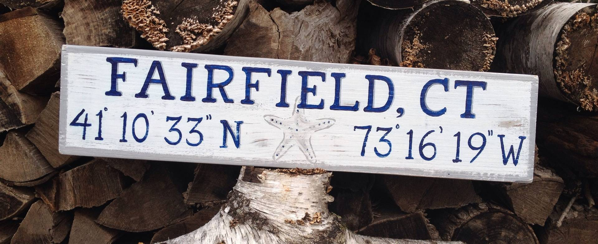 Small Fairfield, CT sign