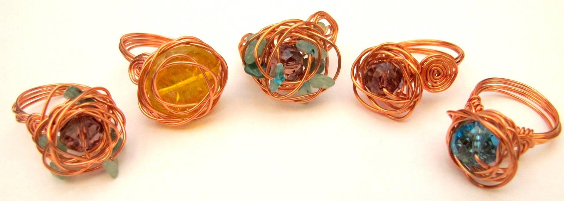 Rose & Nest Rings