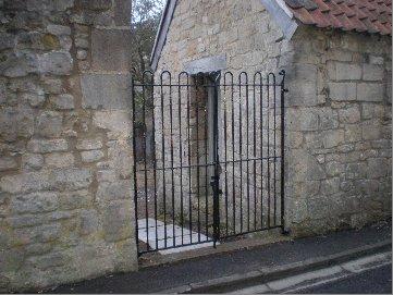 Recently restored Victorian iron gates