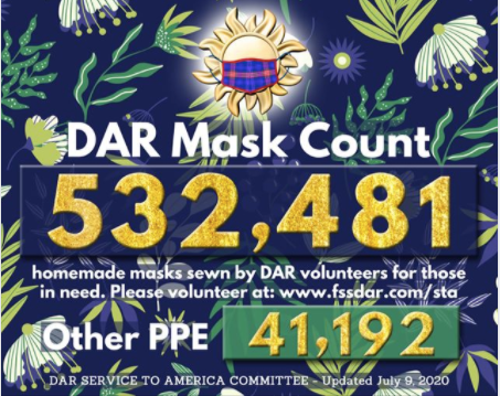 July 9th Mask Count - 532,481 Masks Made