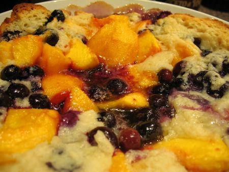 Peach & Blueberry Cobbler