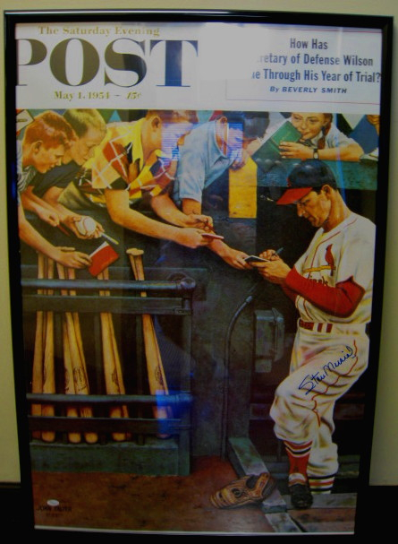 Stan Musial Signed Post Magazine Cover Copy From May 1,1954 JSA Authenticated