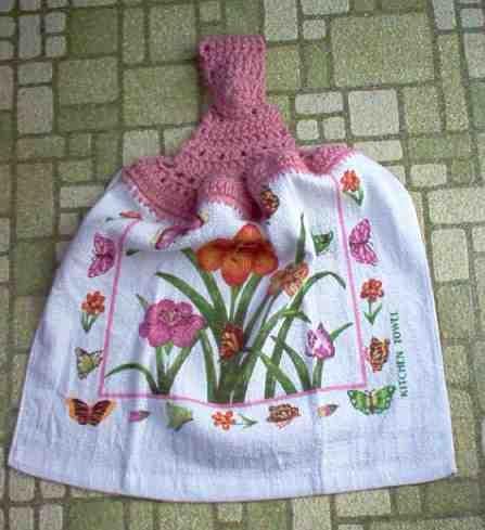 Monarch & Flowers Kitchen Towel