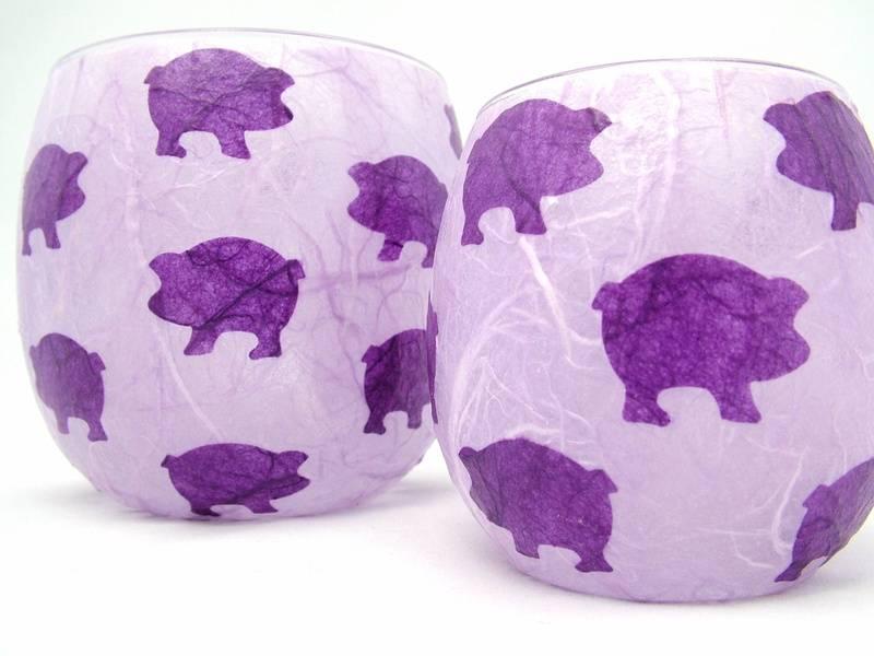 Mauve and Purple Pigs
