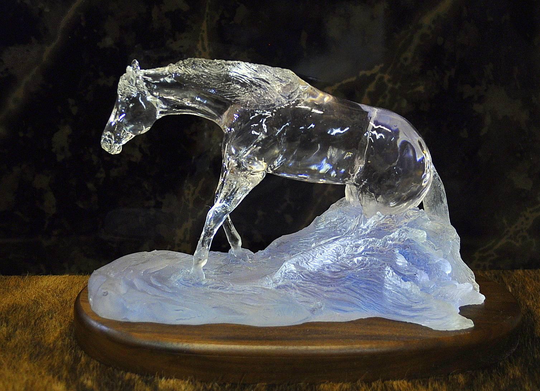 ***C114***  $165.00 New!!! Reining Horse sliding on WATER!!