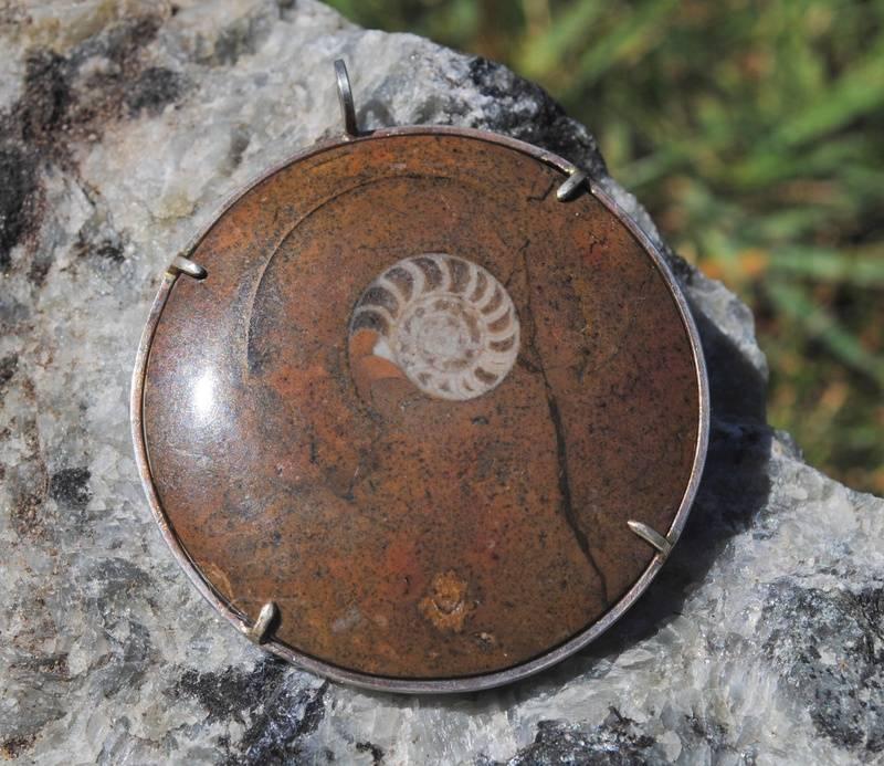 Nautilus Fossil Pendant