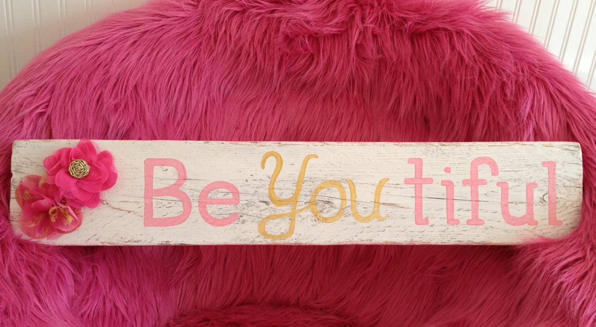 Be.You.Tiful pink/gold