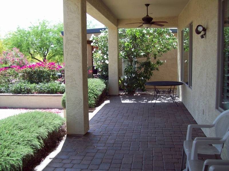 Double porch in back yard