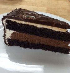 Devils Food Cake Slice