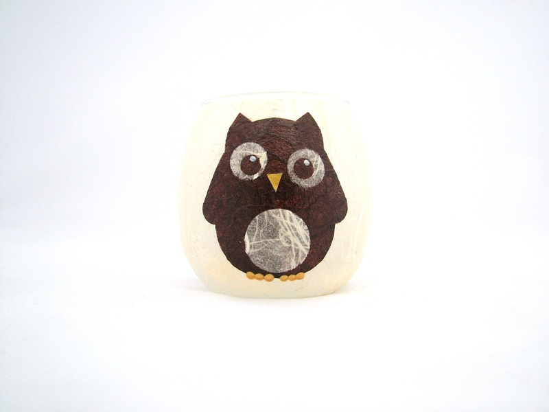 Cream and Brown Wise Owl