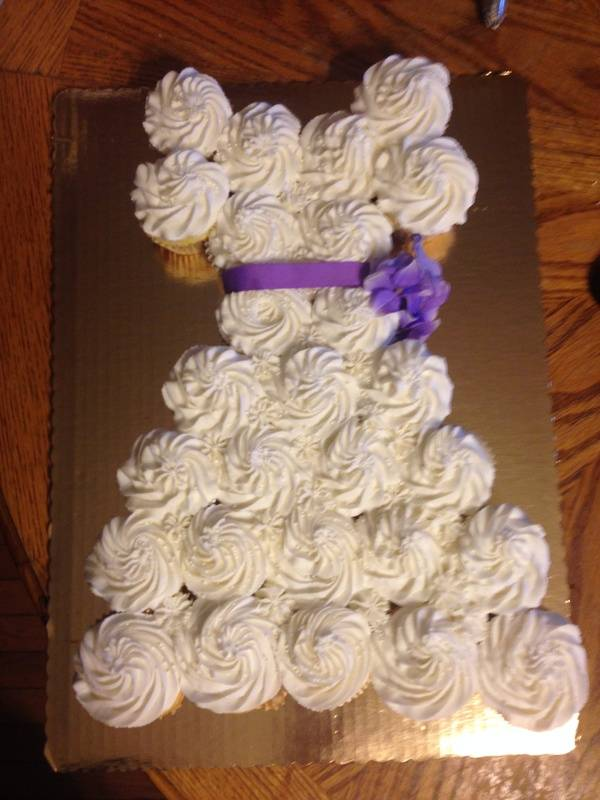 Wedding Shower Cupcake Dress