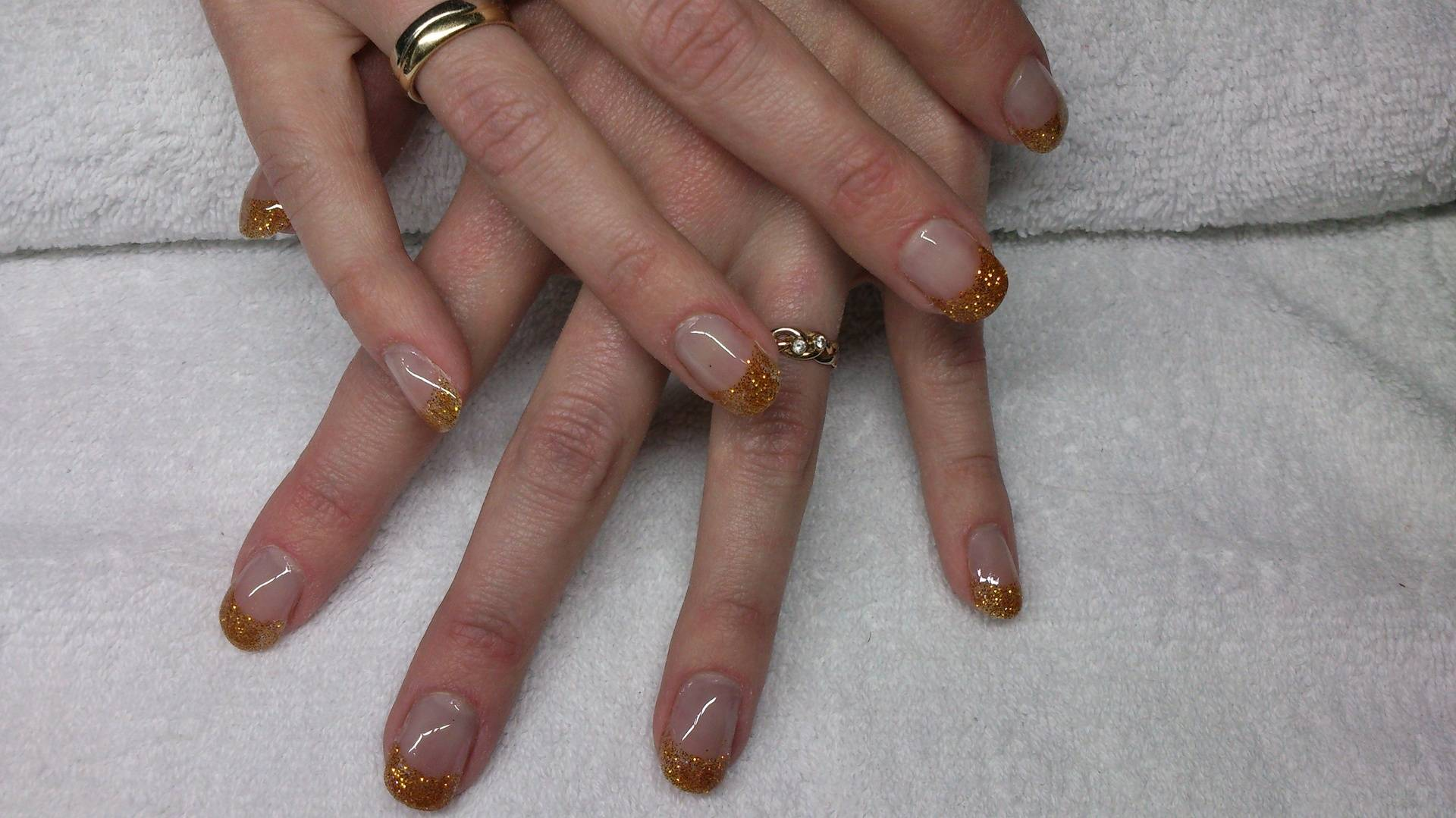 Acryl met gouden french