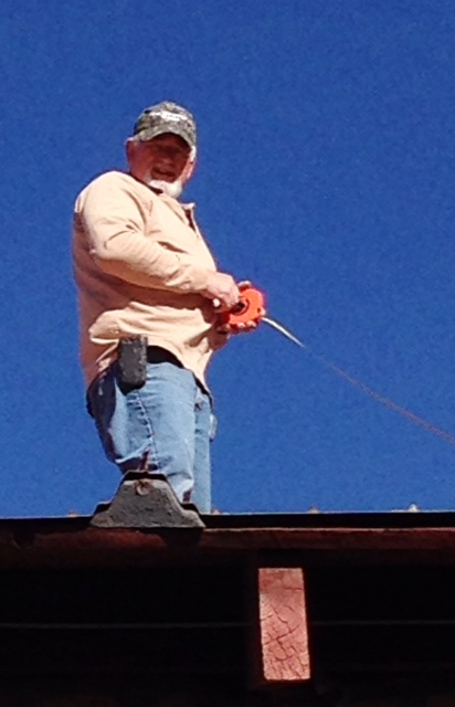 Measuring the roof