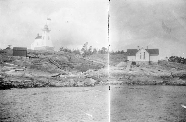 Discovery Island Light station in 1898