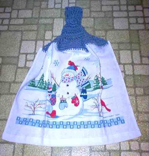 Snowman & Snowflakes Christmas Kitchen Towel