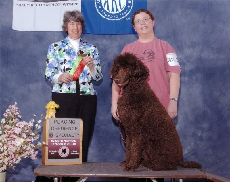 Penny winning Novice B second place.  4/20/07.