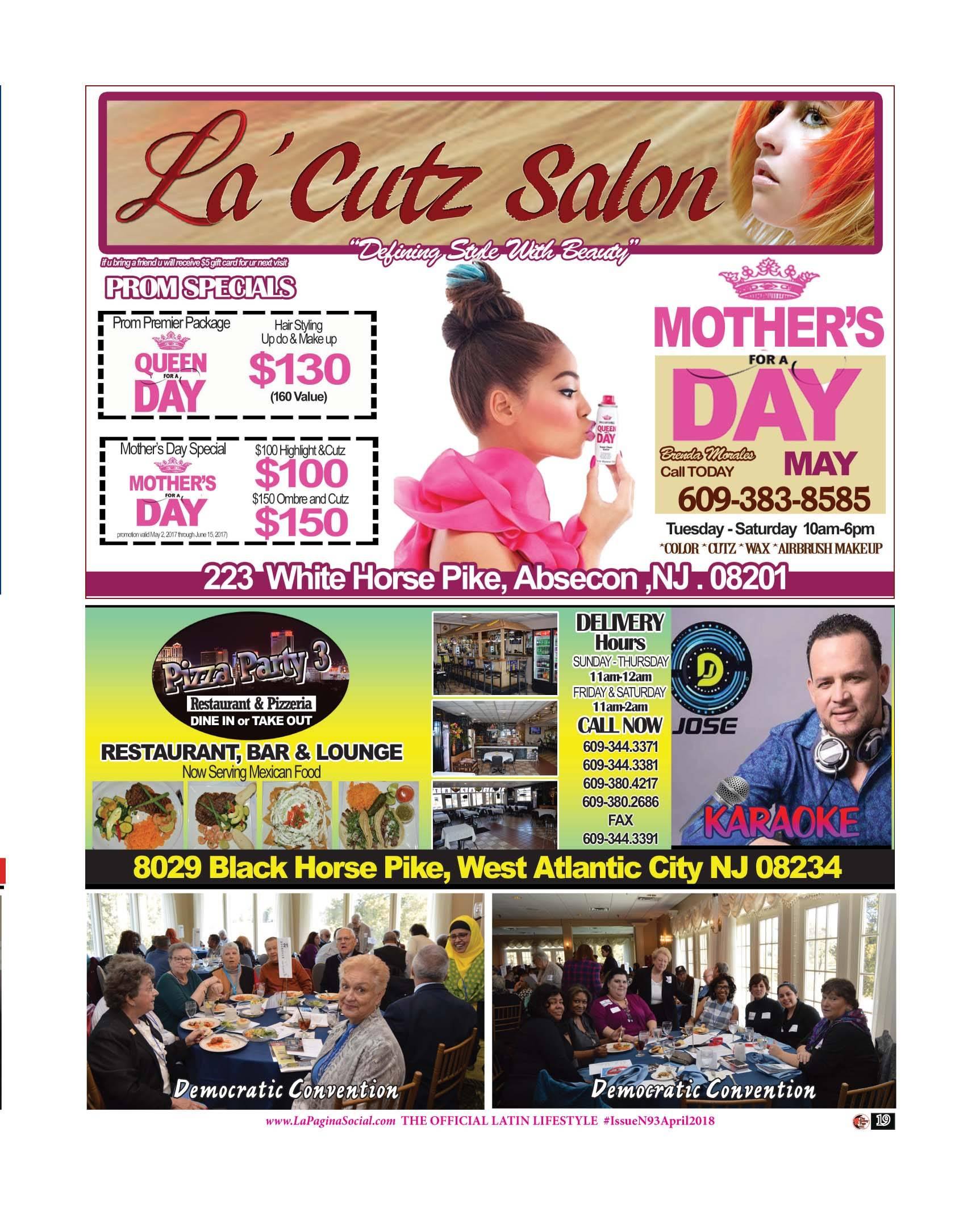 La Cutz Salon , Pizza Party 3