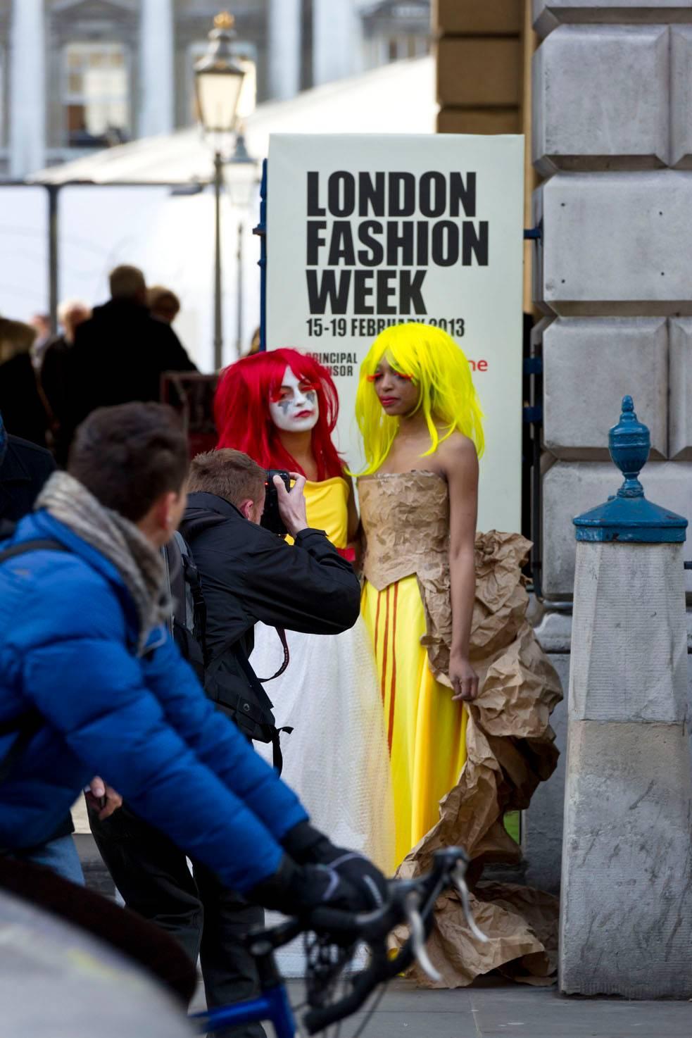 London Fashion Week protest