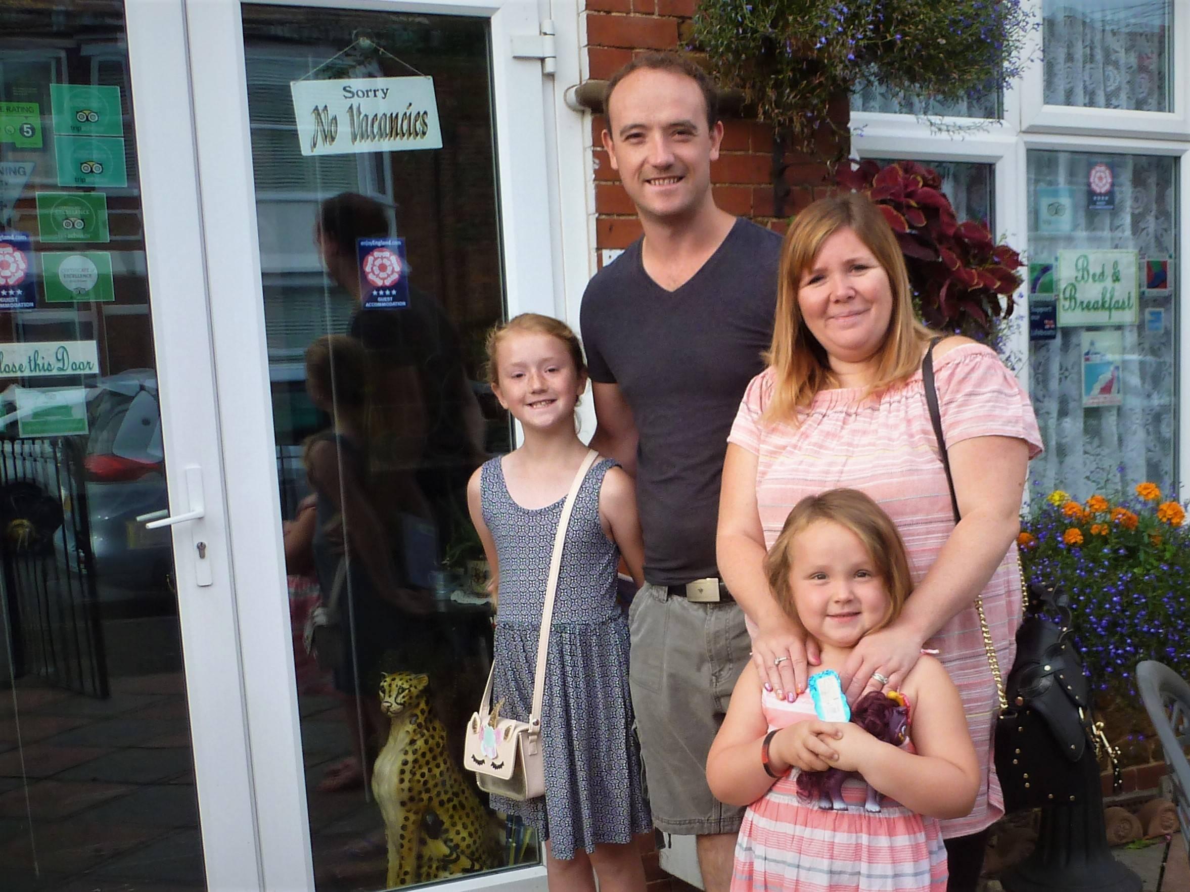 Paul, Kerry, Imogen & Layla