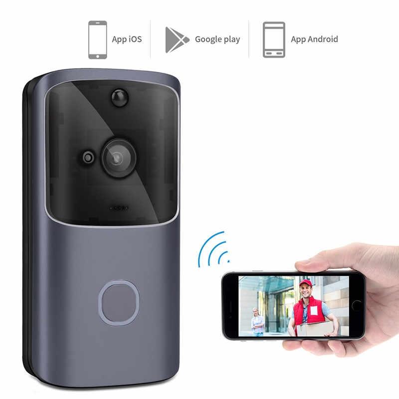 WiFi Waterproof Video Doorbell Home Security Wireless Real-Time Two-Way Talk Smart Doorbell.