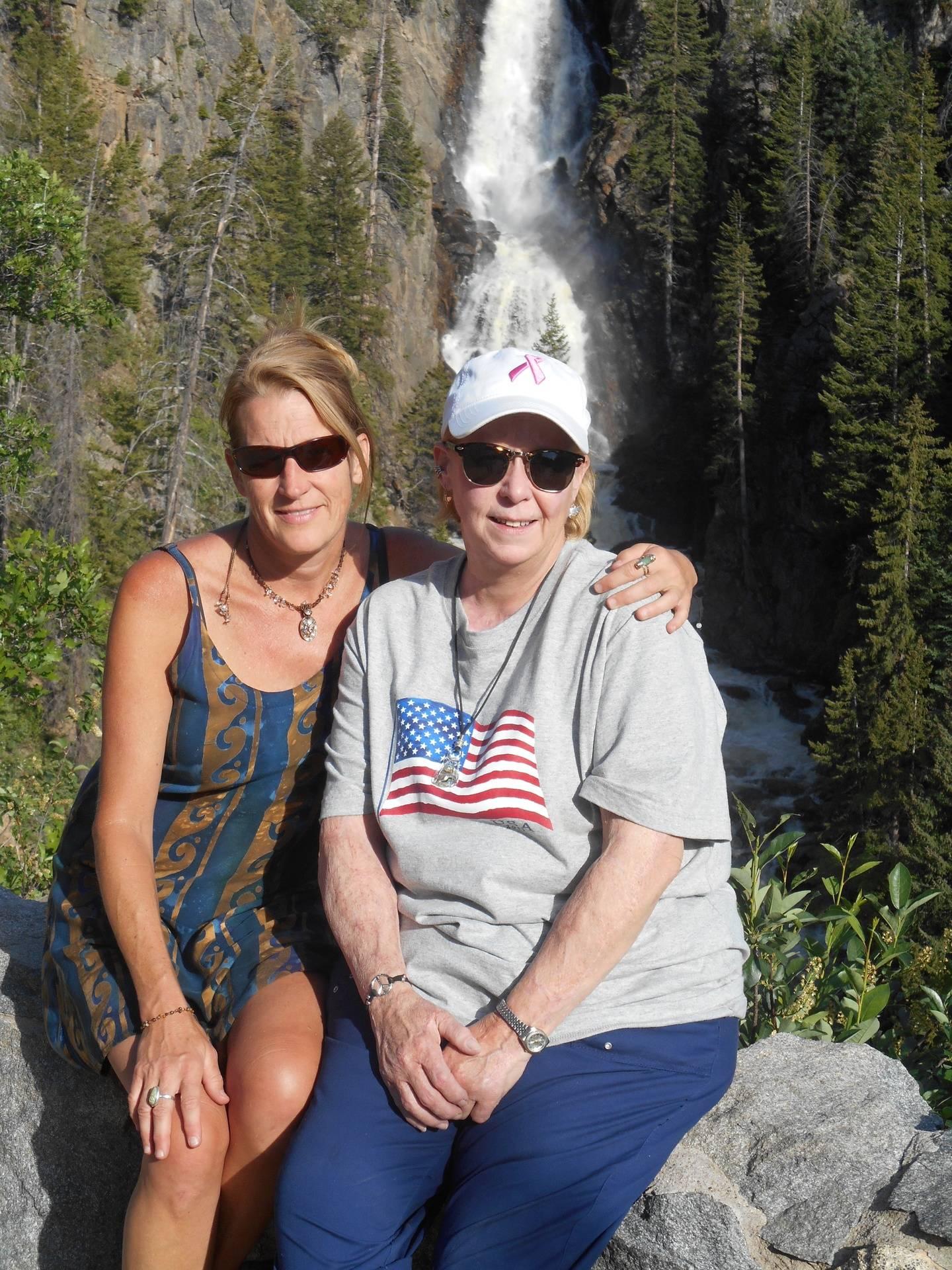 Adrienne & Linda at the falls