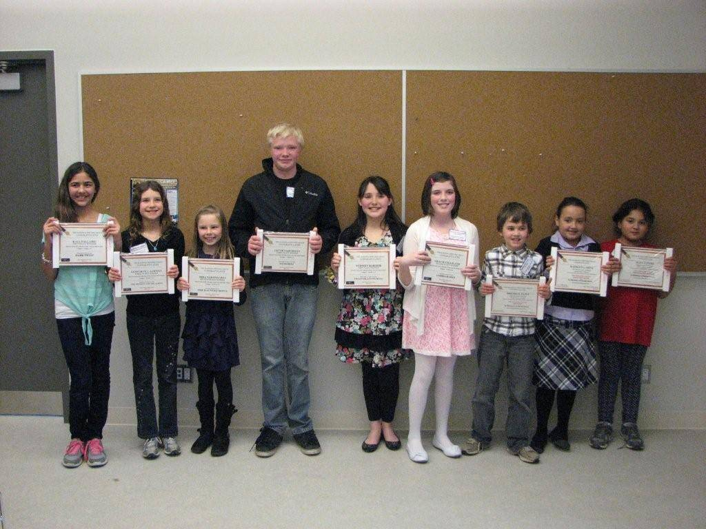 Proud Winners with Joan Daulby Award for Young Writers