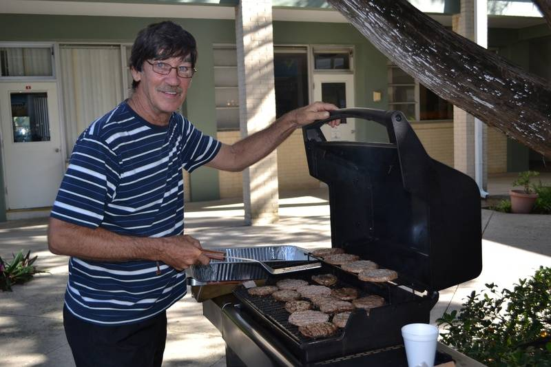 Don cooking up the hamburgers!