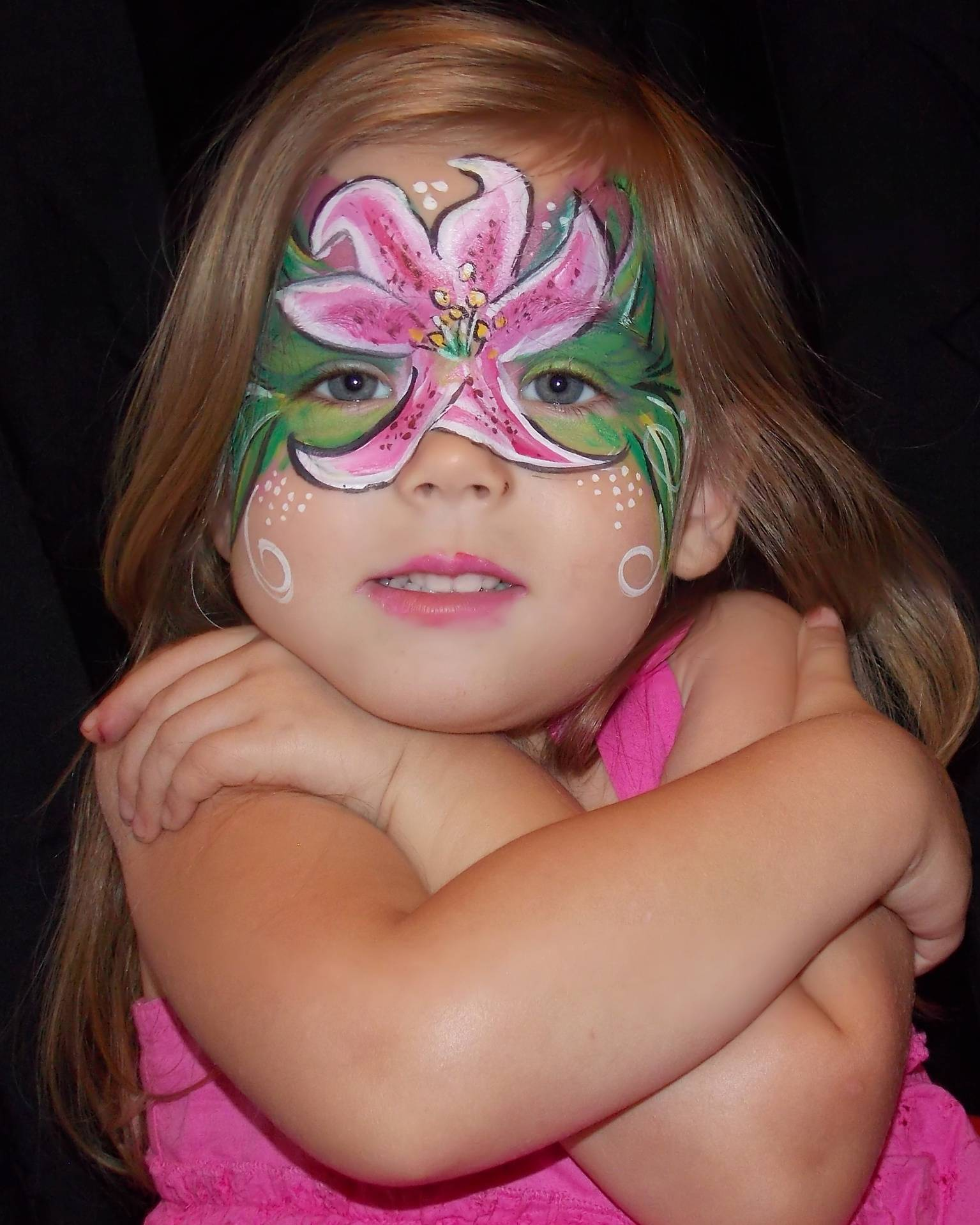 Face Painting of Stargazer Lily
