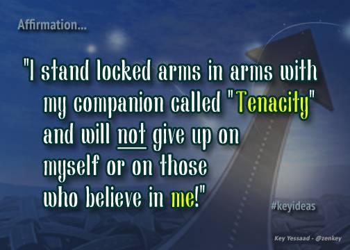 Locked arms in arms with Tenacity
