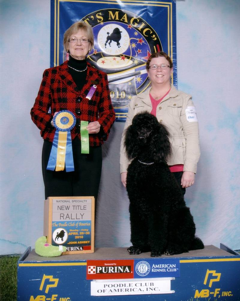 Pepper with new RN title at PCA National Specialty.  4/27/10.