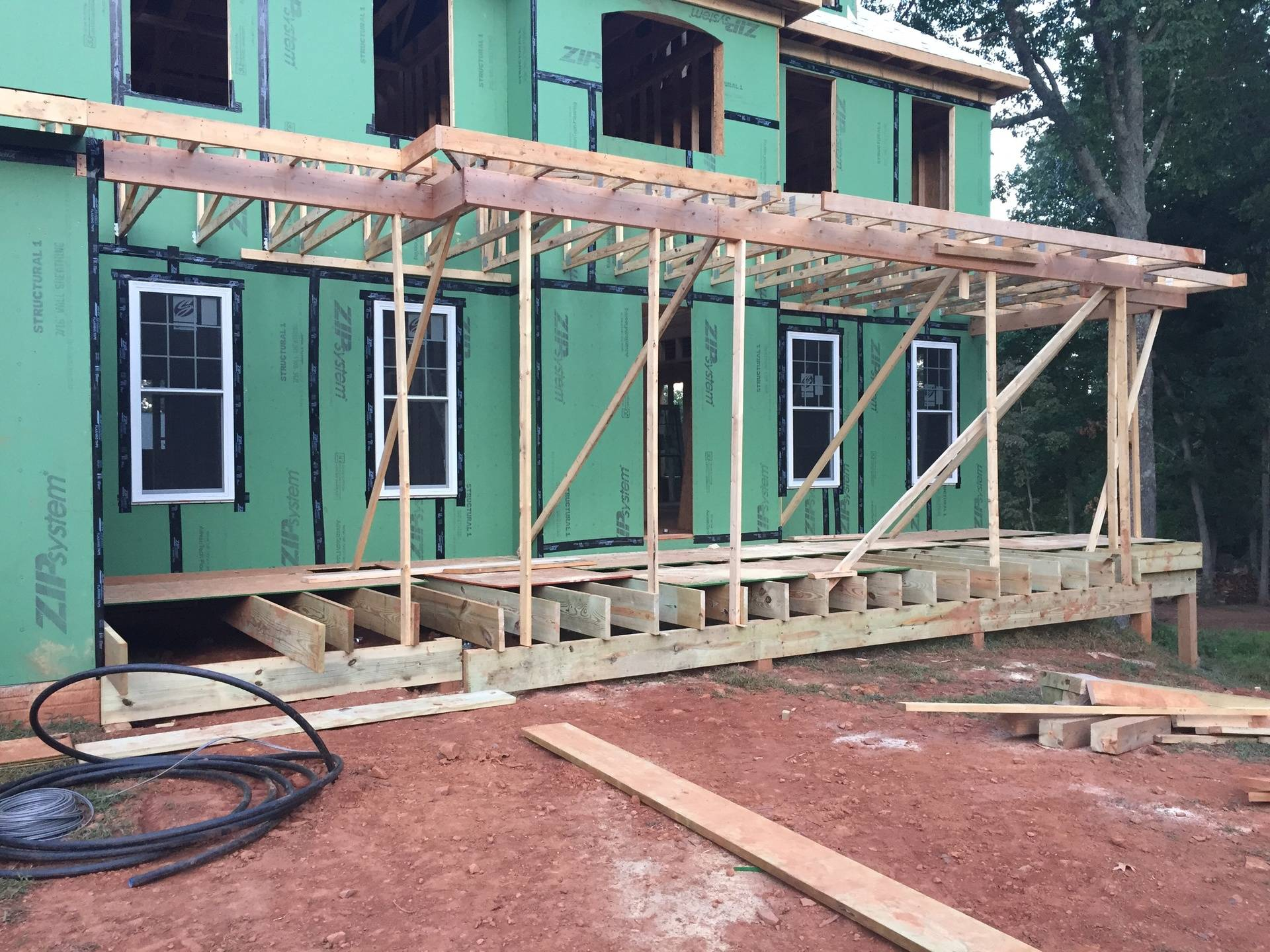 front porch framing