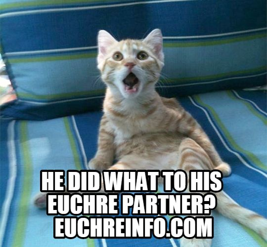 He did what to his Euchre partner?