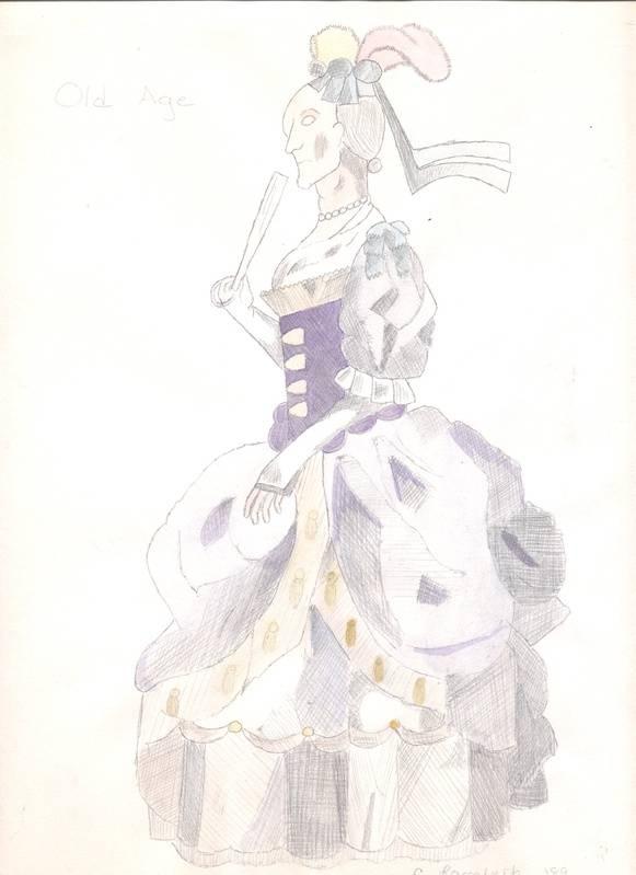 18th century lady--age progression