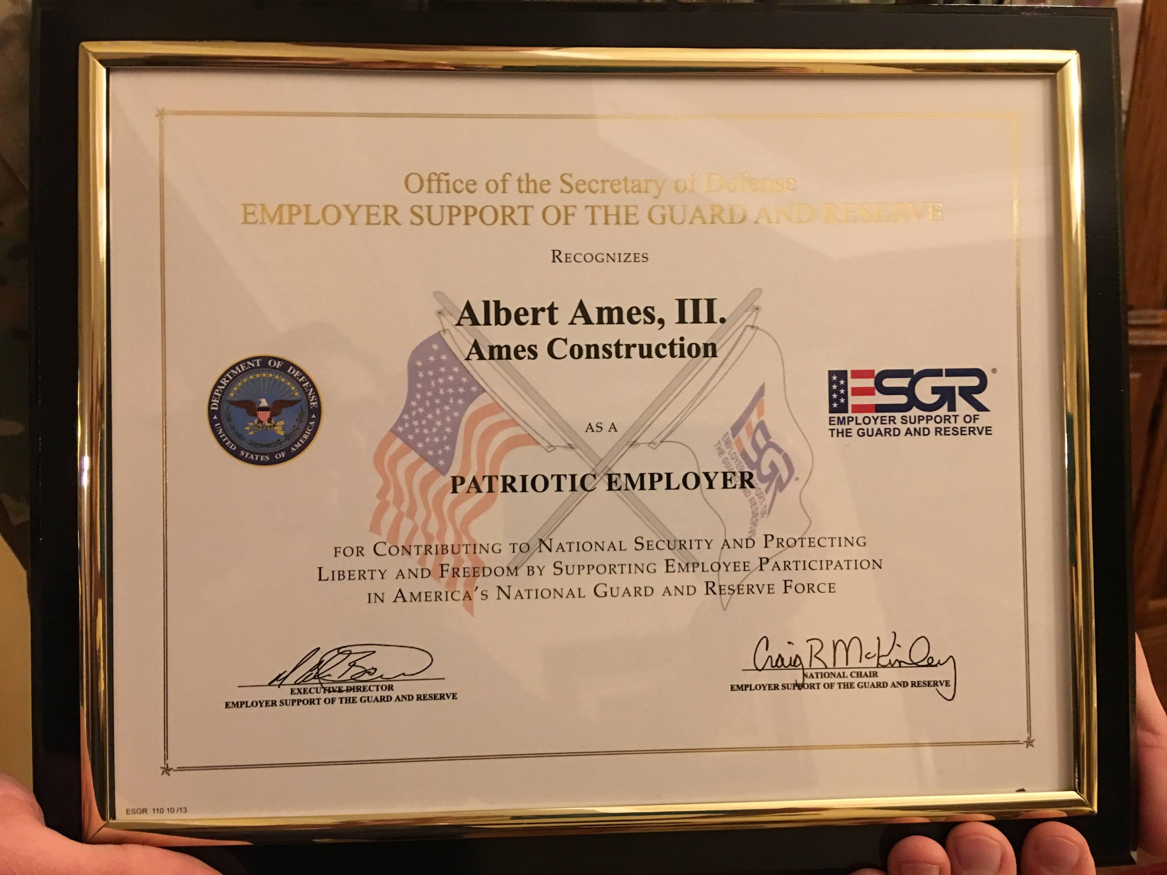 The ESGR Award