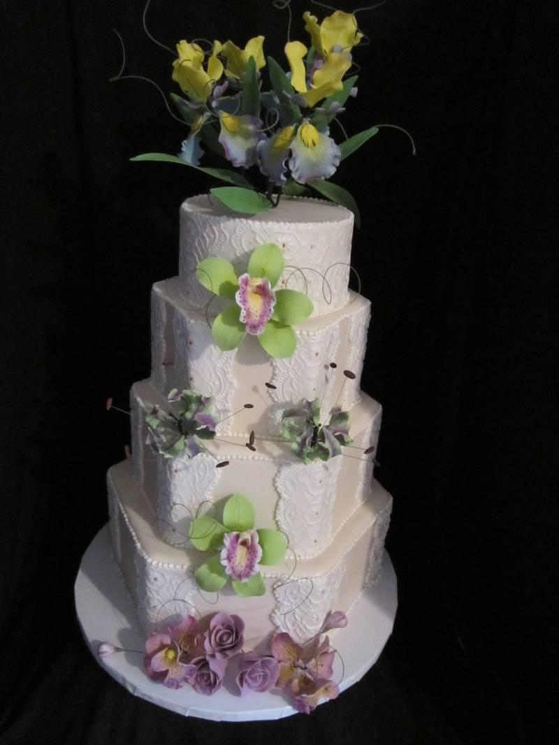 Exotic Flower Cake