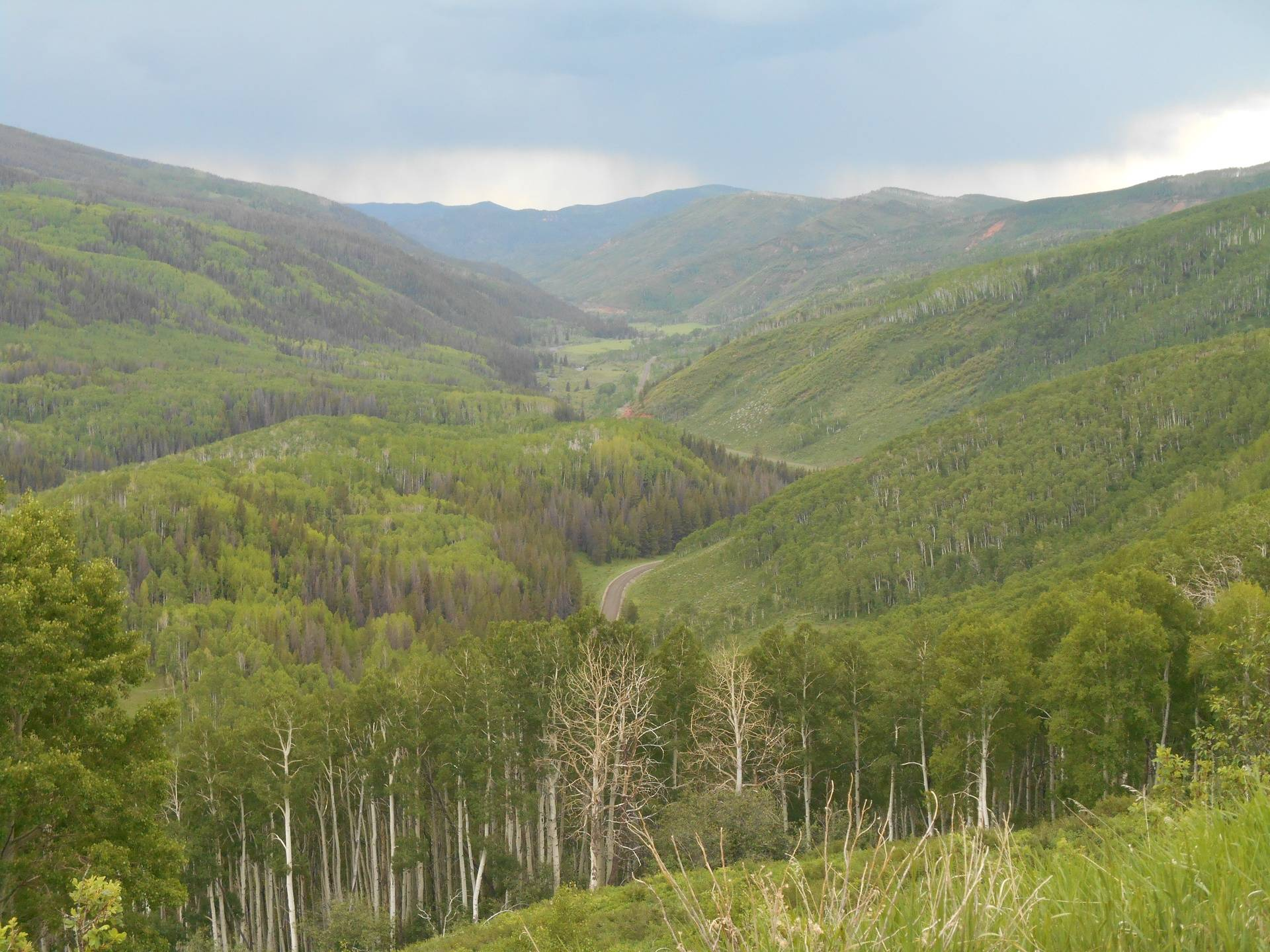 Valley view from passes