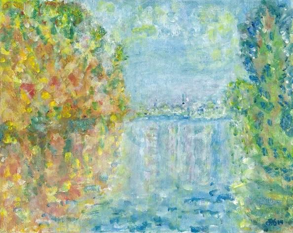 Interpretation of Autumn in Argenteuil by Monet