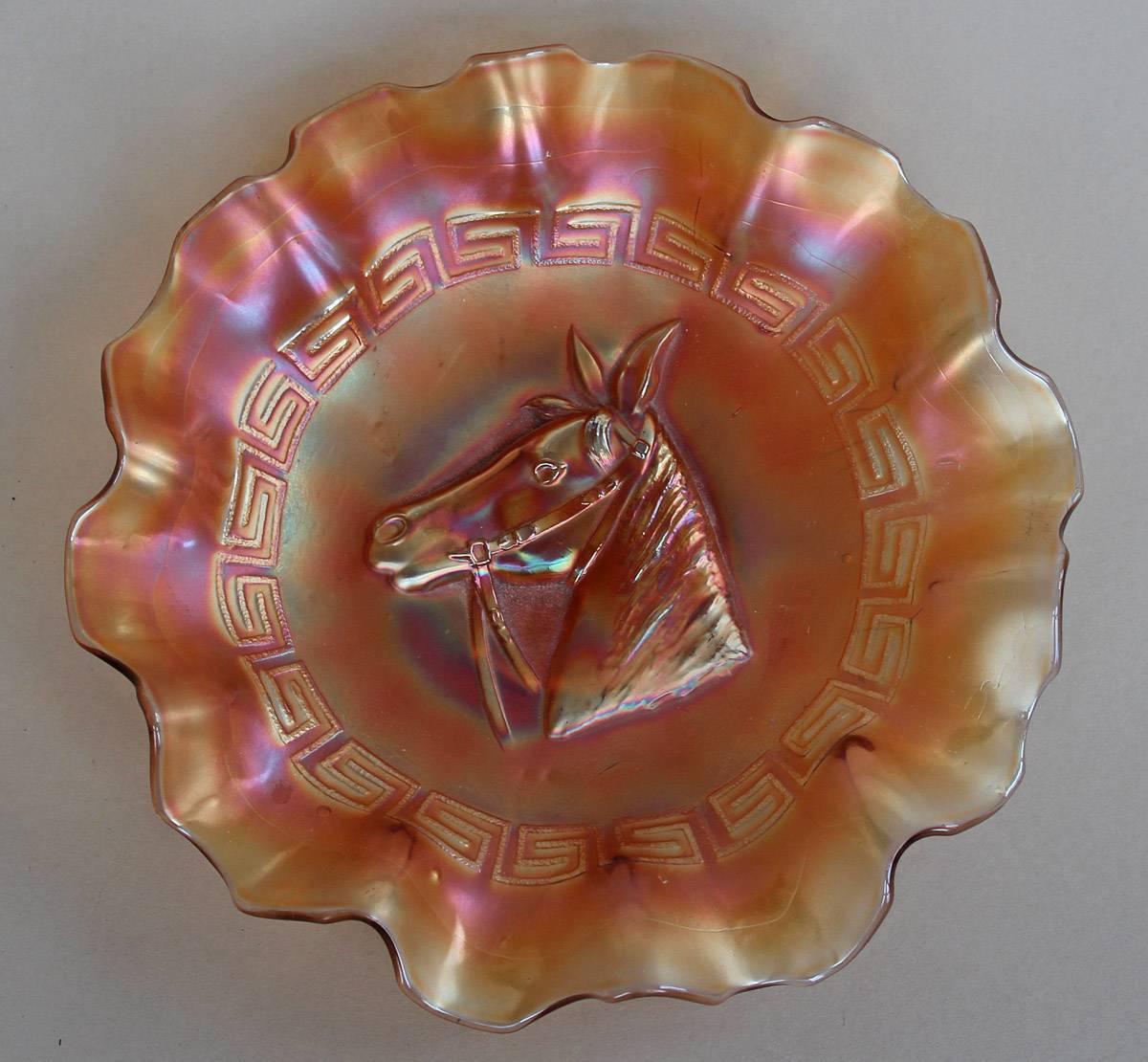 Pony 10 ruffled bowl in marigold
