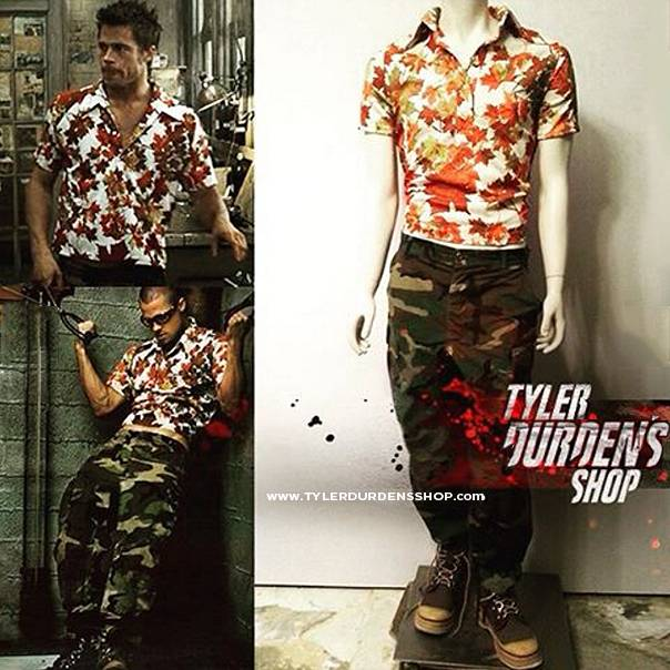 Fight Club Leaf Shirt and Camo pants