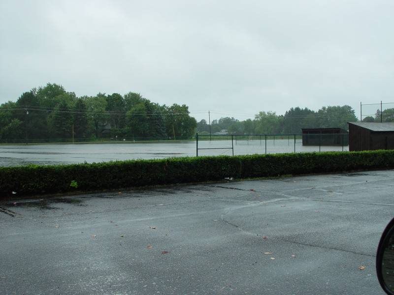 Flooded South ball fields