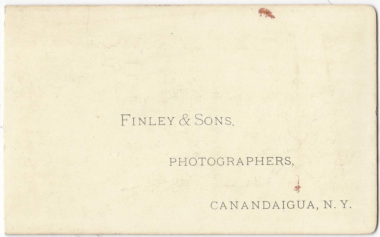 Finley & Sons, photographers, Canandaigua, NY - back