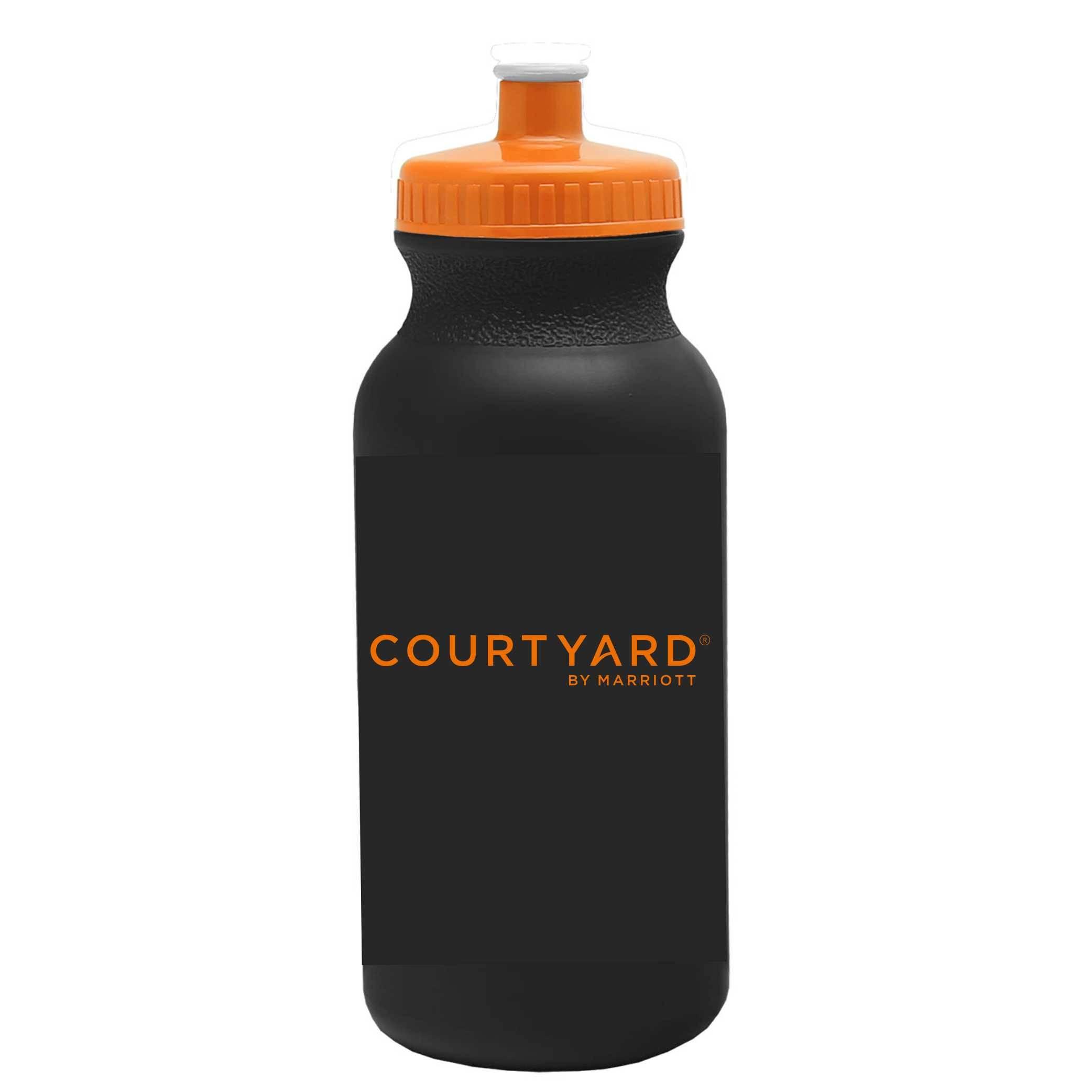 Sport Bottles. 20oz. | 2 Sided Logo | Push-Pull Cap | BPA Free & FDA Compliant | Dishwasher Safe