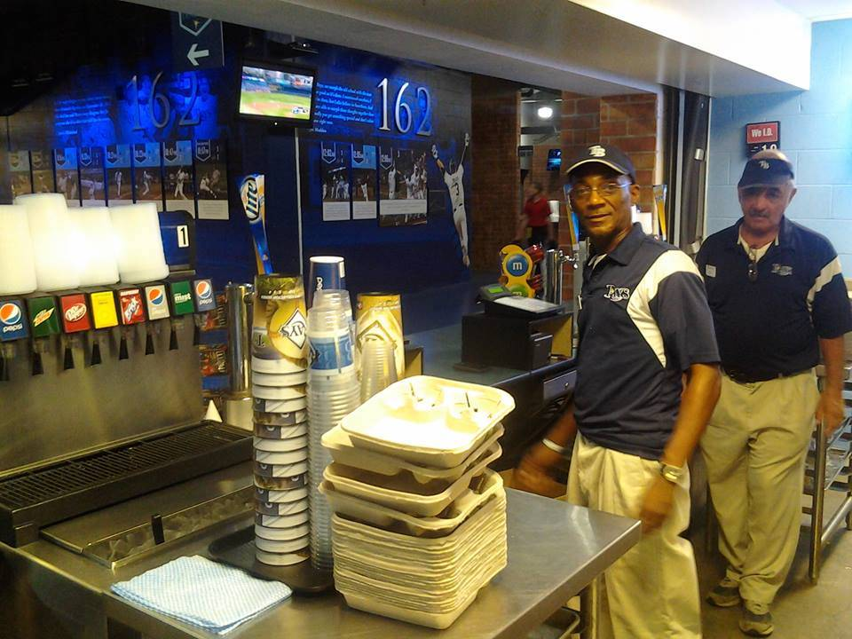Tampa Bay Rays Concessions Stand