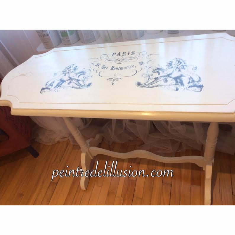 table Peinte avec la Chalk Paint Annie Sloan