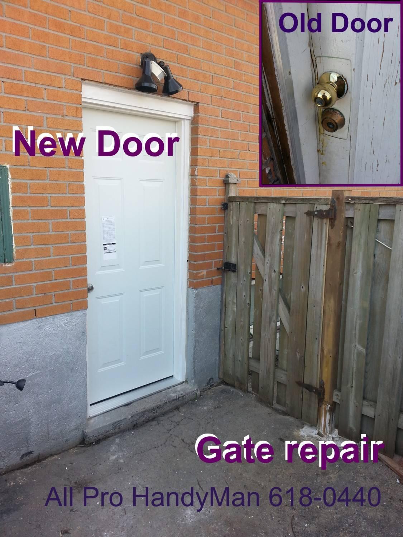 Gate and door repair / replace.