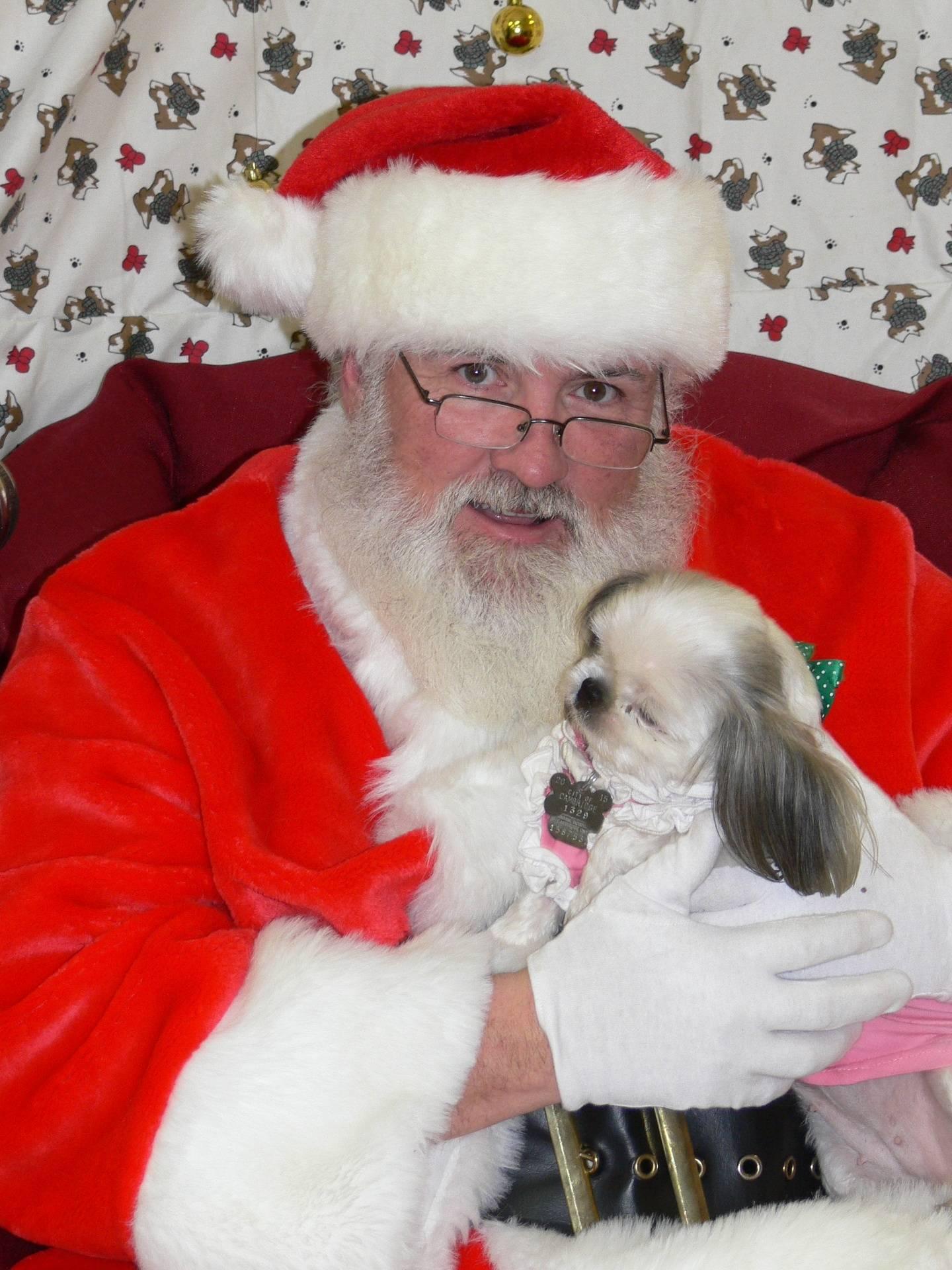 Zoey and Santa