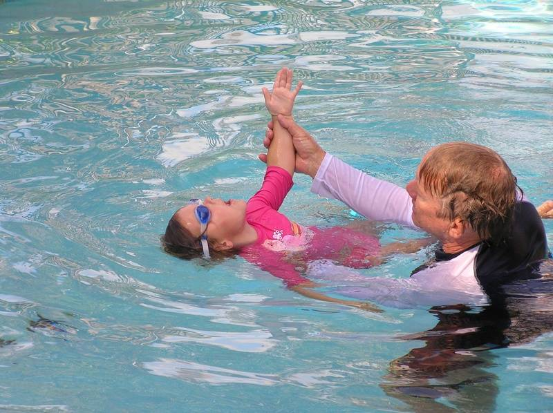 learning backstroke