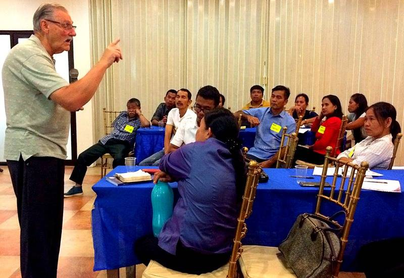 Teaching at Pastors' Conference