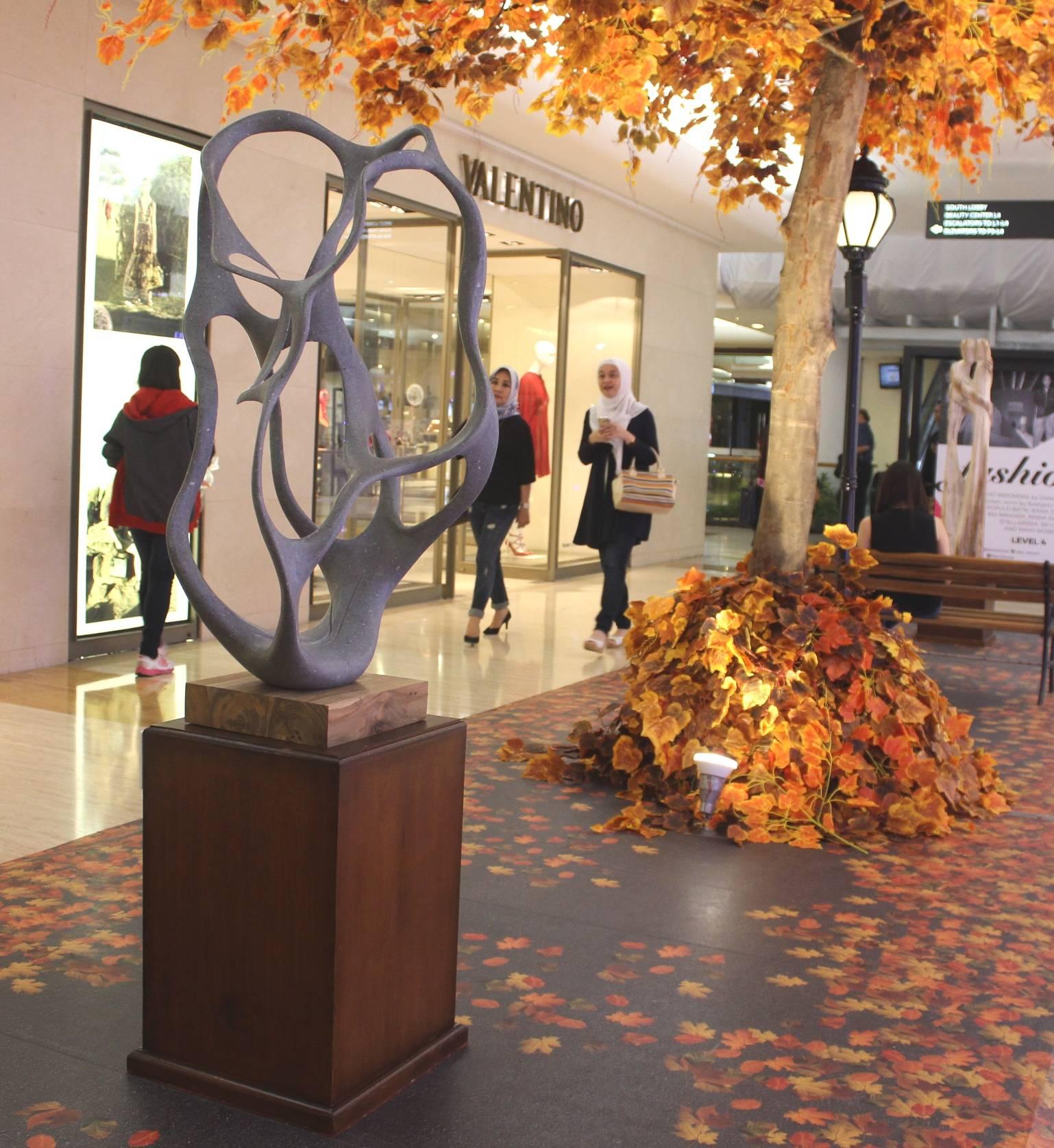 Petrified wood sculpture exhibion