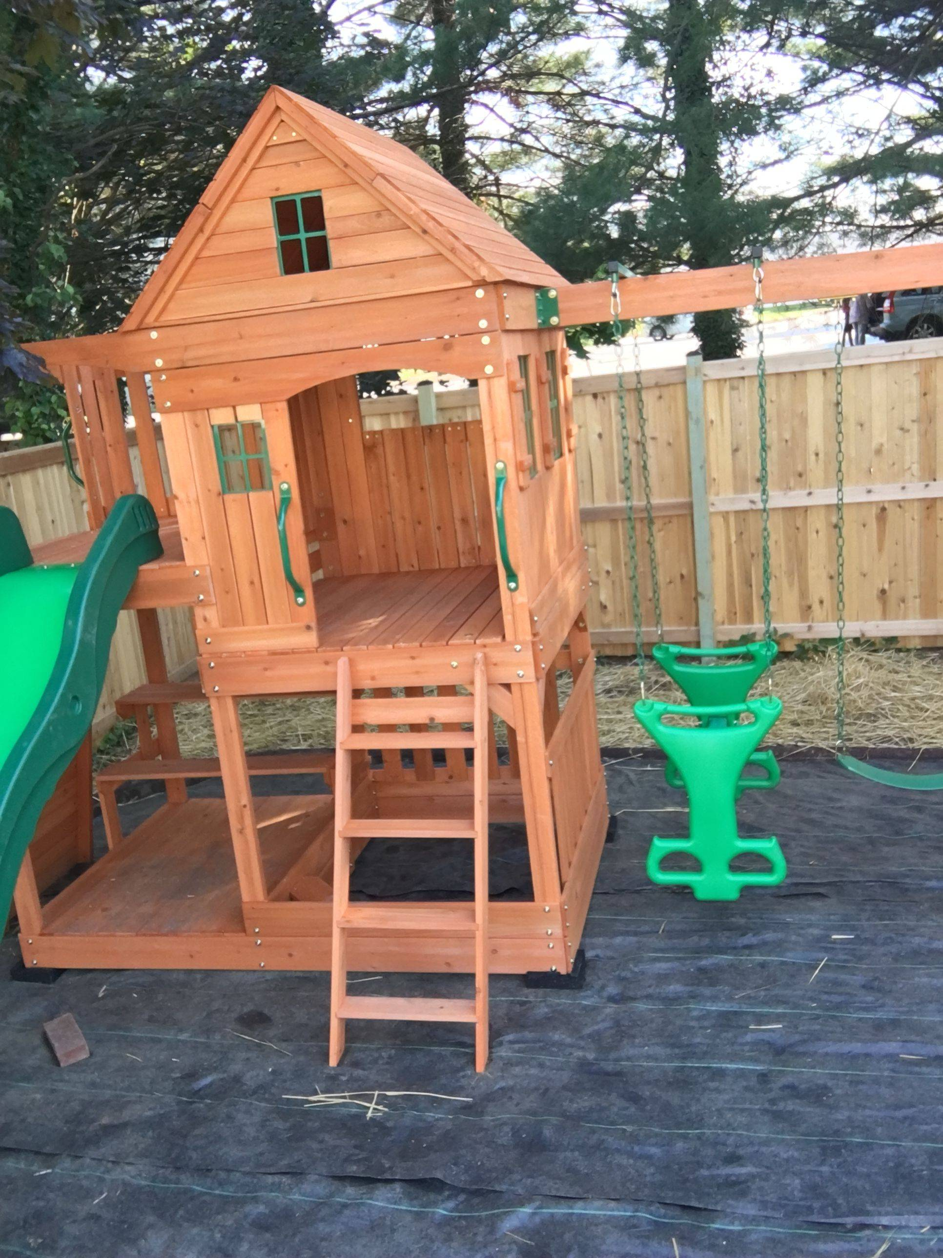 backyard discovery Pacific View swing set assembly in ashburn Virginia